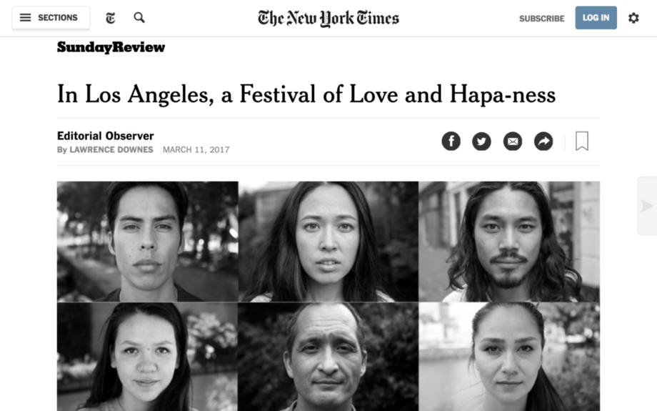 Press: Hāfu2Hāfu in the New York Times!